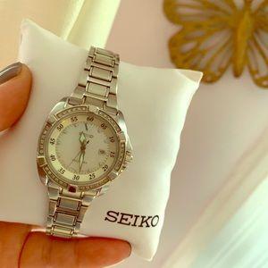 Seiko Women's Velatura Watch w/Mother of Pearl